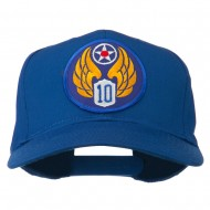 10th Air Force Division Patched Cotton Cap - Royal