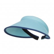 Trim Brushed Cotton Clip On Visor - Blue
