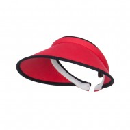 Trim Brushed Cotton Clip On Visor - Red
