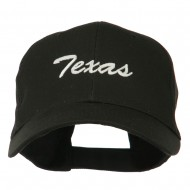 Mid States Texas Embroidered Mid Profile Cap - Black