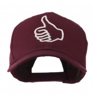 Facebook Thumbs Up Embroidered Cap - Maroon