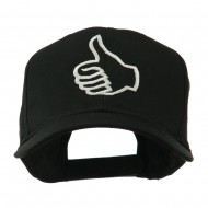 Facebook Thumbs Up Embroidered Cap - Black