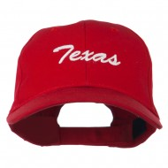 Mid States Texas Embroidered Mid Profile Cap - Red
