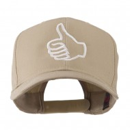 Facebook Thumbs Up Embroidered Cap - Khaki
