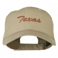 Mid States Texas Embroidered Mid Profile Cap - Khaki