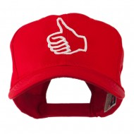 Facebook Thumbs Up Embroidered Cap - Red