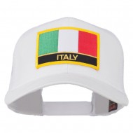 Italy Europe Flag Patched Mesh Back Cap - White