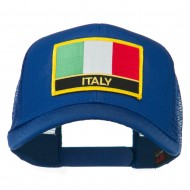 Italy Europe Flag Patched Mesh Back Cap - Royal