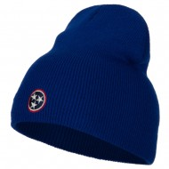 Tennessee Flag Logo Embroidered Knitted Short Beanie - Royal