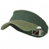 Two Tone Washed Pigment Dyed Flex Sun Visor - Khaki Dark Green