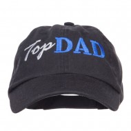 Top Dad Letters Embroidered Low Profile Cap - Black