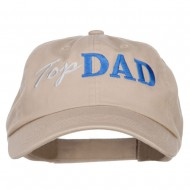 Top Dad Letters Embroidered Low Profile Cap - Khaki