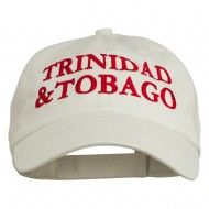 Trinidad and Tobago Embroidered Pet Spun Washed Cap - Stone