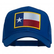 Texas State Flag Patched Mesh Cap - Royal