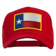 Texas State Flag Patched Mesh Cap - Red