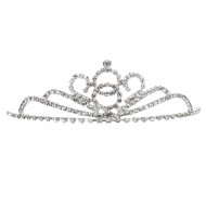 Royal Princess Rhinestone Tiara - Silver