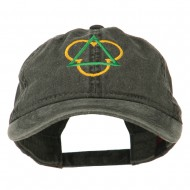 Symbol for Trinity Embroidered Washed Cap - Black