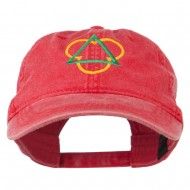 Symbol for Trinity Embroidered Washed Cap - Red