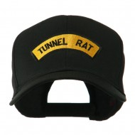 Vietnam War Tunnel Rat Badge Embroidered Cap - Black