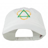 Symbol for Trinity Embroidered Washed Cap - White