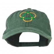 Symbol for Trinity Embroidered Washed Cap - Dark Green