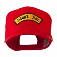 Vietnam War Tunnel Rat Badge Embroidered Cap - Red