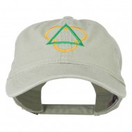 Symbol for Trinity Embroidered Washed Cap - Stone