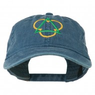 Symbol for Trinity Embroidered Washed Cap - Navy