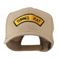 Vietnam War Tunnel Rat Badge Embroidered Cap - Khaki