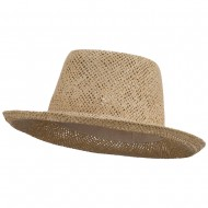 Gambler Toyo Straw Hat - Natural