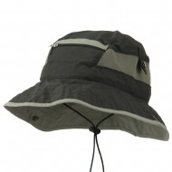 UV 50+ Side Snap Talson Sun Bucket Hat - Charcoal