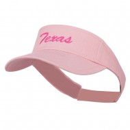 Texas State Embroidered Visor - Pink
