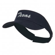 Texas State Embroidered Visor - Navy
