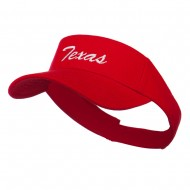 Texas State Embroidered Visor - Red