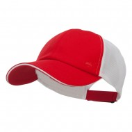 Athletic Two Tone Mesh Cap - Red