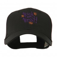 Trick or Treat with Stars Embroidered Cap - Black