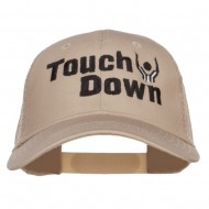 Football Touch Down Embroidered Trucker Cap - Khaki