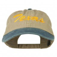 Texas State Embroidered Washed Pigment Dyed Cap - Navy Khaki
