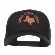 Texas Lone Star State Embroidered Trucker Cap - Black