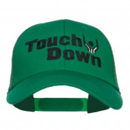 Football Touch Down Embroidered Trucker Cap - Kelly