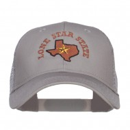 Texas Lone Star State Embroidered Trucker Cap - Grey