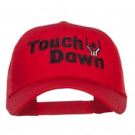 Football Touch Down Embroidered Trucker Cap - Red
