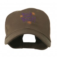 Trick or Treat with Stars Embroidered Cap - Brown