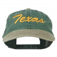 Texas State Embroidered Washed Pigment Dyed Cap - Khaki Green