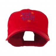 Trick or Treat with Stars Embroidered Cap - Red