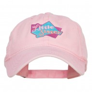 Little Sister Patched Washed Cap - Pink
