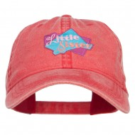 Little Sister Patched Washed Cap - Red