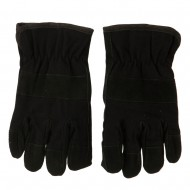 Suede Twill Rugged Work Glove - Black