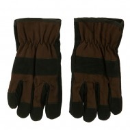 Suede Twill Rugged Work Glove - Brown