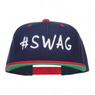 Swag Embroidered Two Tone Snapback - Navy Red